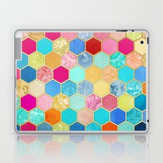 Patterned Honeycomb Patchwork in Jewel Colors Laptop & iPad Skin