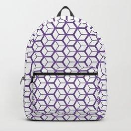 Cubed Pantone Purple Pattern Backpack