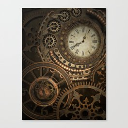 Steampunk Clockwork Canvas Print