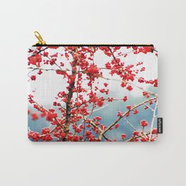Hawthorn Tree Carry-All Pouch