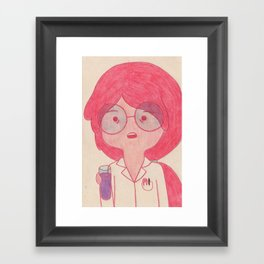 Sciency Bubblegum! Framed Art Print