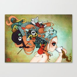 Gamer vs Villans Canvas Print