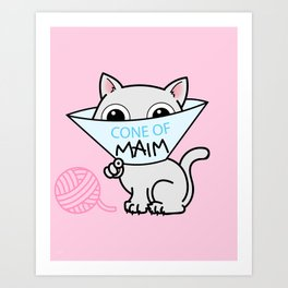 Payback - Cone of Maim - Kitty Cat Shame Art Print