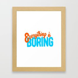 Sans Inspiration Framed Art Print