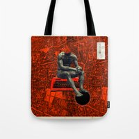 boxer Tote Bags featuring Boxer by Frank Moth