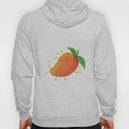 Juicy Mango Fruit Watercolor Hoody
