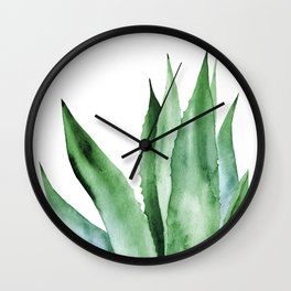 Agave Plant. Wall Clock
