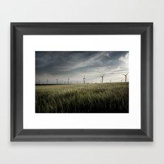 Wind mils Framed Art Print