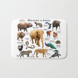 Wildlife of India Bath Mat