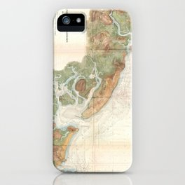 Vintage Map of Ipswich and Annisquam Harbor (1857) iPhone Case