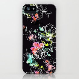 Camp Floral_Midnight Sun iPhone Case