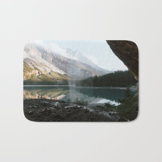 Mountain Lake Vibes III - Landscape Photography Bath Mat