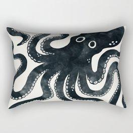 Minoan Octopus - Black Ink Rectangular Pillow