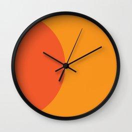 Orange Rising Wall Clock