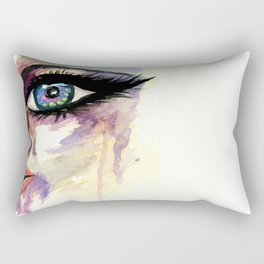 Grunge face part Rectangular Pillow