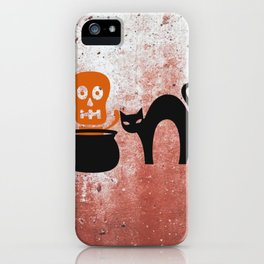 The Skeleton In The Witches Pot iPhone Case
