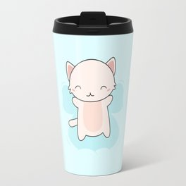 Kawaii Cute Snow Angel Cat Travel Mug