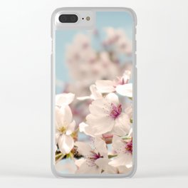 Spring, Flower Photography, Pastel, Pink, Romantic Cherry Blossom, Art Deco - 8 x 10 Wall Decor Clear iPhone Case