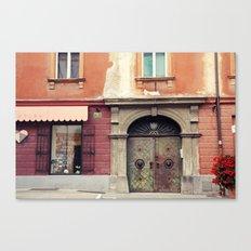 Ljubljana Door Canvas Print