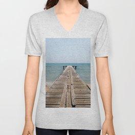 BEACH DAYS 44 - Bridge Unisex V-Neck