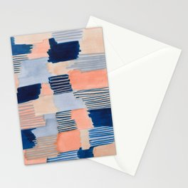 salmon & blue Stationery Cards