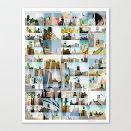 NYC Water Towers Canvas Print