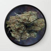medical Wall Clocks featuring Medical Marijuana Deep Sleep by BudProducts.us