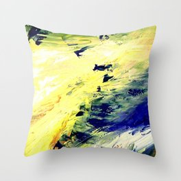 Abstract Yellow Dancer by Robert S. Lee Throw Pillow