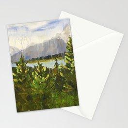 Glacier Park Misty Mountains Stationery Cards