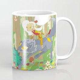 Wolf Rider - through the old ruins Coffee Mug