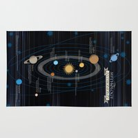 astronomy Area & Throw Rugs featuring Mythology of Astronomy by Pygmy Creative