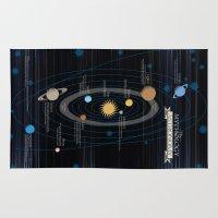 mythology Area & Throw Rugs featuring Mythology of Astronomy by Pygmy Creative
