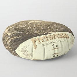 Aerial View of Pittsfield, New Hampshire (1884) Floor Pillow