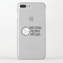 Volleyball - Serve Strong Clear iPhone Case