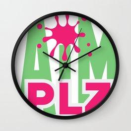 Aim Plz by Memodeth Wall Clock