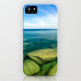 Lake Superior Rock Paradise iPhone Case