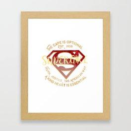 the cape is optional Framed Art Print