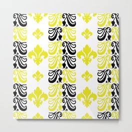 Fluer de Lis Custom Yellow Metal Print
