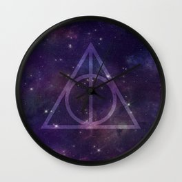 Deathly Hallows in Space Wall Clock