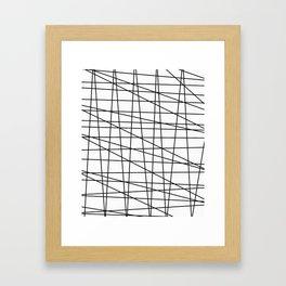 Gossamer. Black and white.2 Framed Art Print