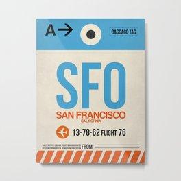 SFO San Francisco Luggage Tag 1 Metal Print