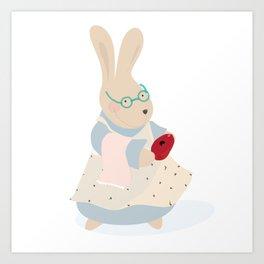 nonna coniglio Art Print
