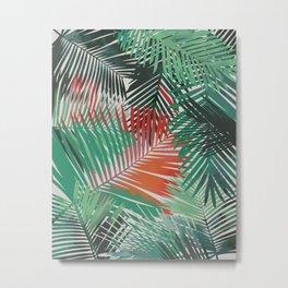 Tropical Palm Fronds Yolanda Fronda Metal Print