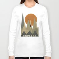 explore Long Sleeve T-shirts featuring Explore by bri.b