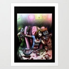 Zombie Tea Party Art Print
