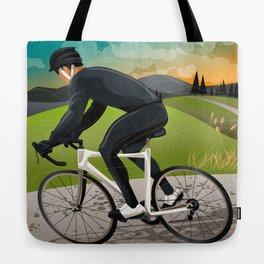 Road Cyclist Tote Bag