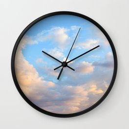 Cloudy Sky at Sunrise Wall Clock