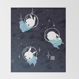 Space Bunnies Throw Blanket