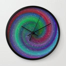 Plasma Mosaic Tiles Wall Clock