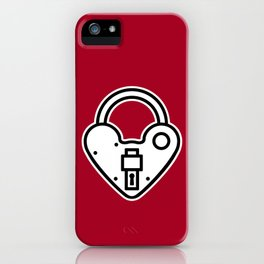 Loveheart Lock iPhone Case